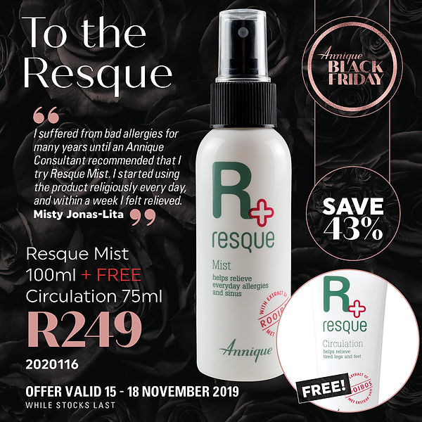 BlackFriday Annique Resque Mist with FRE