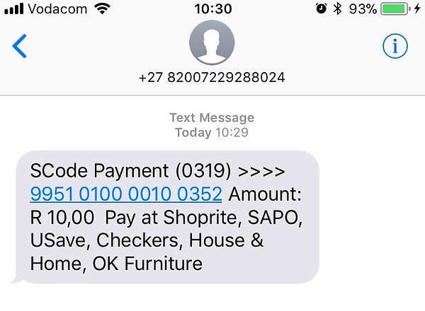 SCode Payment www.onlinehealthstore.co.za Neolife