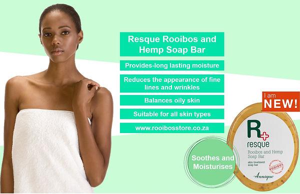 Annique Resque Rooibos and Hemp Soap Bar