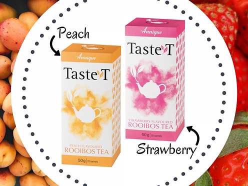 Annique Peach and Strawberry Flavored Rooibos Tea