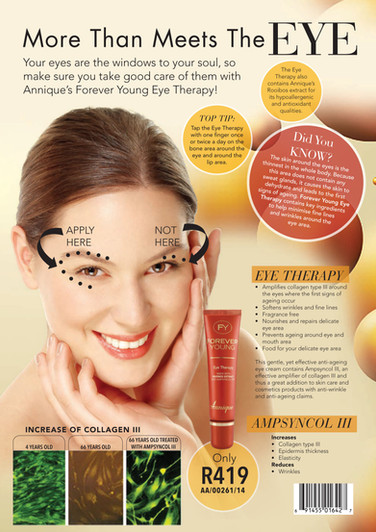 #Annique #Rooibos #RooibosStore #AnniqueSkincare #AntiAgeing #ForeverYoung #EyeTherapy #EyeTreatment