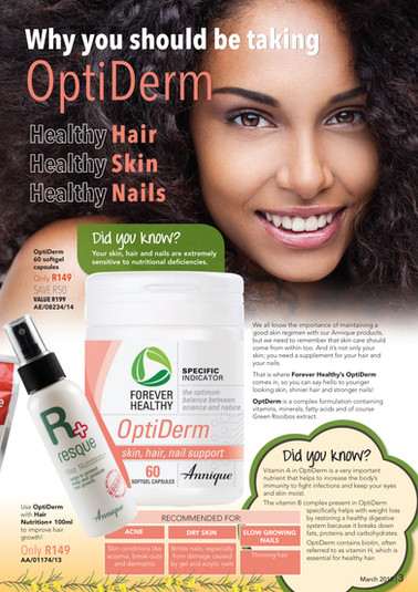 #Annique #Rooibos #RooibosStore #AnniqueSkincare #Hair #Nails #Skin #Optiderm #ForeverHealthy