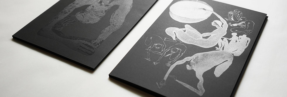 Two stories - art books of translucent prints - A4