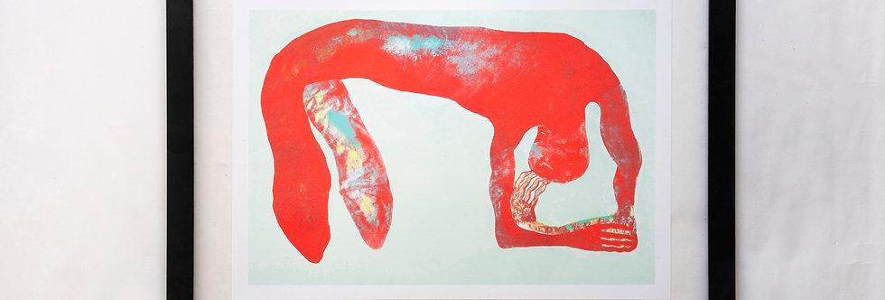 BACK - risograph print - A3