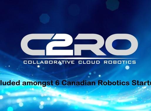 C2RO Raises $2.25 M Financing to Commercialize  Portfolio of Enterprise Grade Cloud A.I. Services