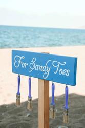 עיצוב חתונה בחול