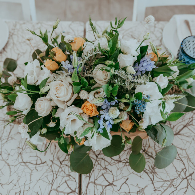 עיצוב שולחן חתונה בקפריסין