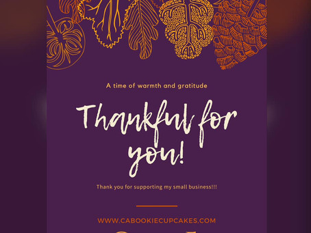 Cabookie is GRATEFUL! #HappyThanksgiving