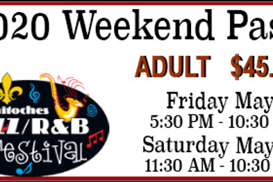 Friday/Saturday Adult Pass for the 2020 Festival