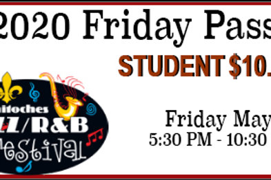 Friday Student Pass for the 2020 Festival