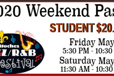 Friday/Saturday Student Pass for the 2020 Festival