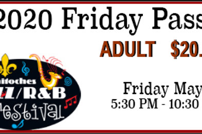 Friday Adult Pass for the 2020 Festival