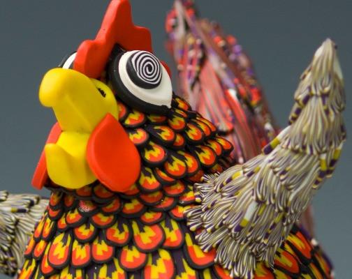 chicken waving