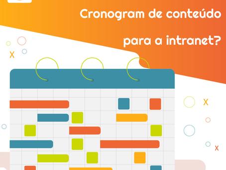 Como construir um cronograma de conteúdo para a intranet?