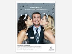 Peugeot (Suisse SA) Inseratekampagne Händlerwerbung Arbeit: Konzept, Realisation