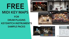 Free Reaper MIDI Map files for Drum Plugins!