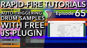 Audio to MIDI Drum Trigger JS Plugin Explained (Rapid-Fire REAPER tutorials Ep65)