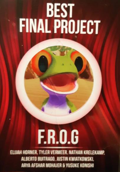 FROG wins best final project