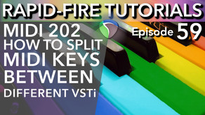 How to Split your MIDI Keyboard to play different VSTi (Rapid-Fire REAPER Tutorials Ep59)