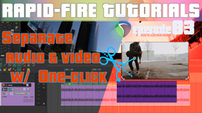 Separate audio from a video item with one action! (Rapid fire REAPER Tutorials Ep83)