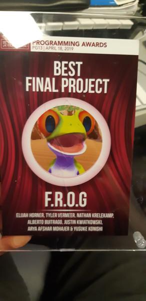 FROG Wins Best Final Project!