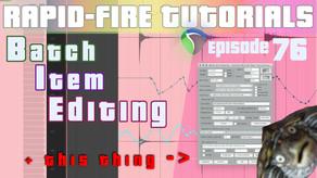 Media Item Properties & Hotkeys for batch editing items (Rapid-fire Reaper Tutorials Ep76)