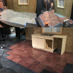 Linoleum floor.