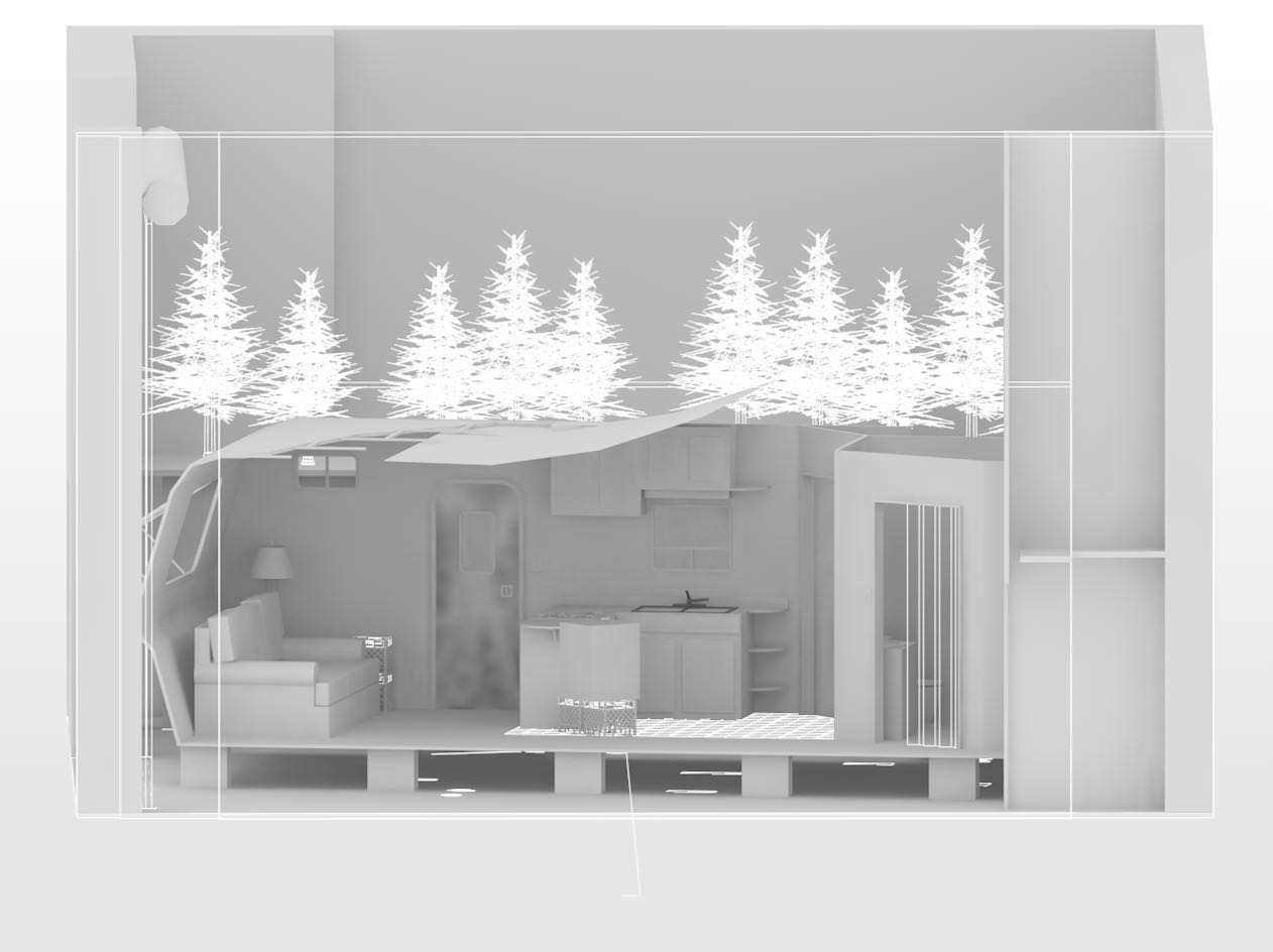 Annapurna White Model Rendering