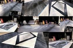 Inlaid marble floor