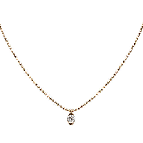 Candor Solo Necklace (18k Rose Gold)