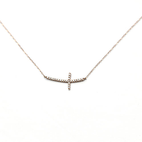 Cross Necklace (18k Rose Gold)