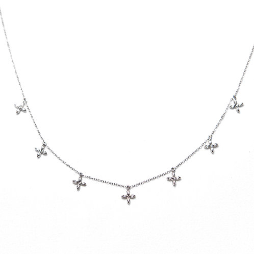Stella Star Necklace (18k White Gold)