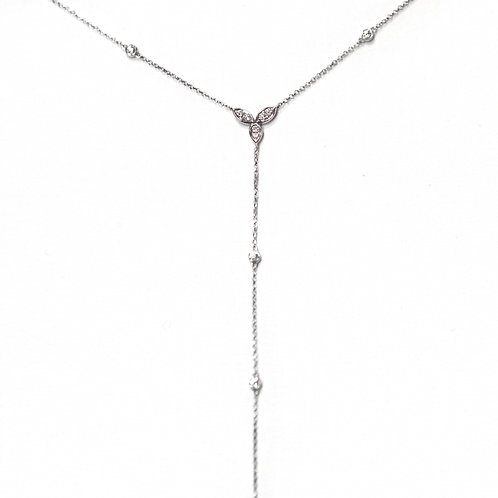 Trillium Necklace (18k White Gold)