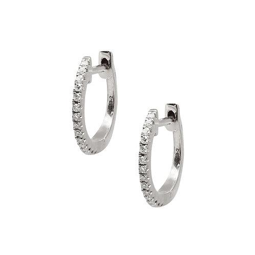 Candor Medium Hoop Earrings (18k White Gold)