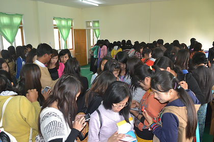 Students at in Kayar State accessing eTekkatho on their phones