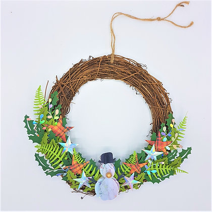 Starry Snowman Wreath