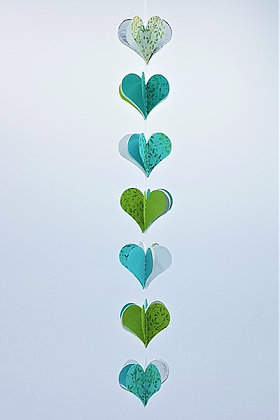 Heart Mobiles - Blue and Green