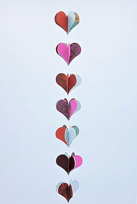 Heart Mobiles - Red and Blue