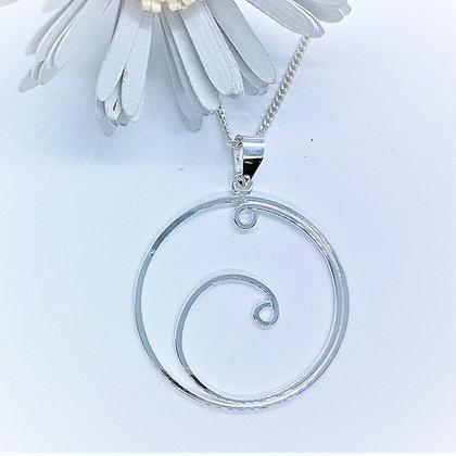 Open Swirl Necklace