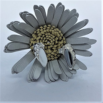 Silver Petal Stud Earrings