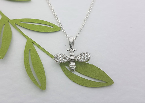 Sparkle Bee Necklace
