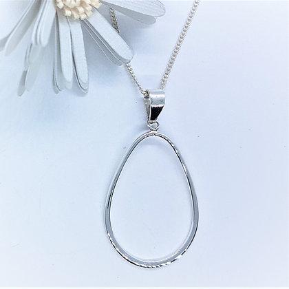 Silver Open Loop Necklace