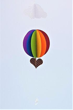 Hot Air Balloon Mobile - Classic Rainbow