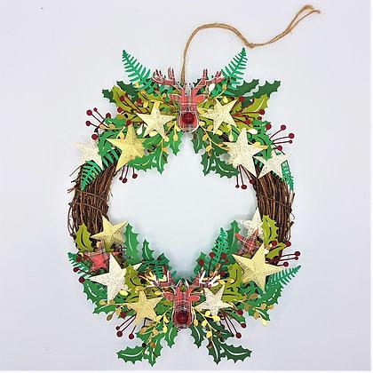 Double Reindeer Wreath
