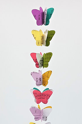 Butterfly Music Score Mobiles