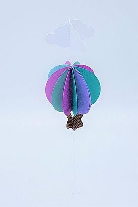 Hot Air Balloon Mobile - Cool Blues