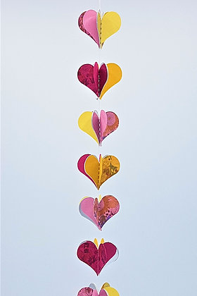 Heart Mobiles - Pink and Orange