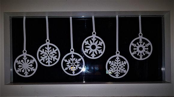 Snowflake Bauble Window Decorations
