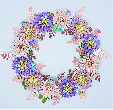 Pale Blooms Wreath