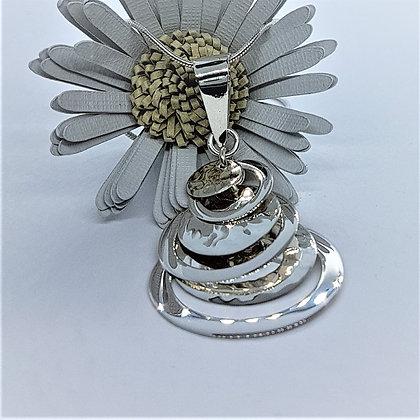 Disco Drops Silver Necklace